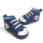 รองเท้าผ้าใบเด็กหมีขับเครื่องบินสีฟ้า-(6-คู่/แพ็ค)
