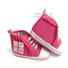 รองเท้าผ้าใบเด็กหัวใจ-4-ห้อง-สีชมพู-(6-คู่/แพ็ค)