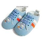 รองเท้าผ้าใบเด็ก-Hello-Kitty-สีฟ้า-(6-คู่/แพ็ค)