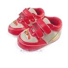 รองเท้าผ้าใบเด็กรถแข่ง-สีเงินแดง-(6-คู่/แพ็ค)