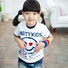 เสื้อยืดแขนสั้น-Party-Kids-สีขาว-(5size/pack)