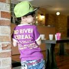 เสื้อยืดแขนสั้น-Cereal-สีม่วง-(5size/pack)