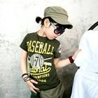 เสื้อยืดแขนสั้น-Baseball-สีเขียว-(5size/pack)