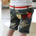 กางเกงขาสามส่วนลายทหารสีเทา-(5-ตัว/pack)