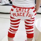 กางเกงขาสามส่วน-Smile-Peaceful-สีแดง-(5-ตัว/pack)