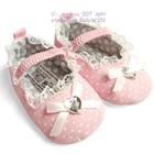 รองเท้าเด็กลายจุดหัวใจเพชร-สีชมพู-(6-คู่/แพ็ค)
