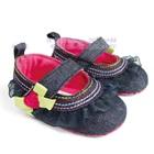 รองเท้ายีนส์เด็กระบาย-สีดำ-(6-คู่/แพ็ค)