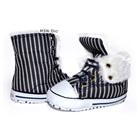 รองเท้าผ้าใบเด็กทรงสูง-Guess-สีดำ(6-คู่/แพ็ค)