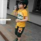 กางเกงขายาวลายเฟรนด์ฟราย-สีเขียว-(4size/pack)