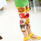 กางเกงเลกกิ้งสกรีนลาย-สีเหลือง-(5-ตัว-/pack)