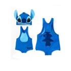 ชุดว่ายน้ำกางเกง-Stitch-สีฟ้า-(5size/pack)