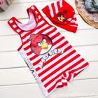 ชุดว่ายน้ำกางเกง-Angry-Bird-สีแดง-(5size/pack)