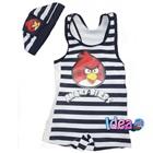 ชุดว่ายน้ำกางเกง-Angry-Bird-สีดำ(5size/pack)