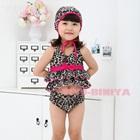 ชุดว่ายน้ำ-2-ชิ้นนางเสือดาว-สีเทา-(5size/pack)