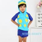 ชุดว่ายน้ำเสื้อกางเกงเป็ดน้อย-สีฟ้า-(5size/pack)