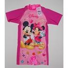 ชุดว่ายน้ำเสื้อกางเกง-Disney-สีชมพู(8-ตัว/pack)