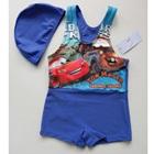 ชุดว่ายน้ำกางเกงลายรถแข่ง-สีฟ้า-(8-ตัว/pack)