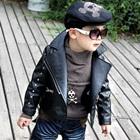 เสื้อแจ็คเก็ตหนังแขนยาวสุดเท่ห์-สีดำ(4-ตัว/pack)