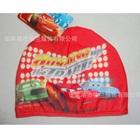 หมวกว่ายน้ำลายรถแข่ง-สีแดง(5-ใบ/pack)