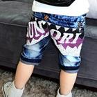 กางเกงยีนส์ขาสามส่วน--สีน้ำเงิน-(4-ตัว/pack)