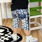กางเกงยีนส์ขาสามส่วนหัวกระโหลก-(4-ตัว/pack)