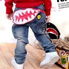 กางเกงยีนส์ขายาวปลาปากกว้าง-(4-ตัว/pack)