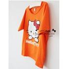 เดรสแขนสั้น-Hello-Kittry-สีส้ม-(5-ตัว/pack)