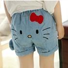กางเกงขาสั้นยีนส์-Hello-Kitty-สีฟ้า-(5-ตัว/pack)