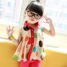 เสื้อเด็กแขนกุดลายจุด-สีครีม-(5ตัว/pack)
