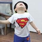 เสื้อยืดแขนสั้น-Super-Man-สีขาว-(5ตัว/pack)