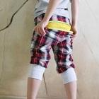 กางเกงสั้นลายสก็อต-สีแดง-(5-ตัว/pack)