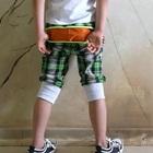 กางเกงสั้นลายสก็อต-สีเขียว-(5-ตัว/pack)