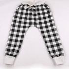 กางเกงยาวลายสก็อต-สีดำ-(5-ตัว/pack)
