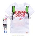 เสื้อยืดแขนสั้น-Sugar-Duck-สีขาว(5size/pack)