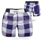 กางเกงขาสั้นลายตาราง-สีฟ้าขาว-(8-size/pack)