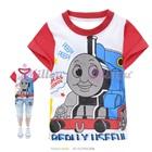 เสื้อยืดแขนสั้น-Thomas-แขนสีแดง-(6size/pack)