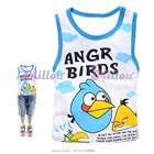 เสื้อกล้าม-Angry-Bird-ขอบสีฟ้า-(6size/pack)