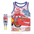 เสื้อกล้ามลายรถแข่ง-ขอบสีน้ำเงิน-(6size/pack)