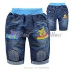 กางเกงยีนส์ขาสามส่วนหมีพูลล์สีน้ำเงิน-(5size/pack)