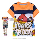 เสื้อยืดแขนสั้น-Angry-Bird-สีส้ม--(6size/pack)