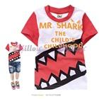 เสื้อยืดแขนสั้น-Mr-Shark-แขนสีแดง(5size/pack)