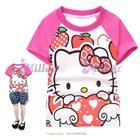 เสื้อยืดแขนสั้น-Hello-Kitty-แขนสีชมพู-(6size/pack)