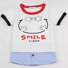 เสื้อยืดแขนสั้น-Smile-สีขาว-(5size/pack)