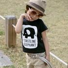 เสื้อยืดแขนสั้น-Elephant-สีดำ-(5size/pack)
