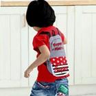 เสื้อยืดแขนสั้นกระเป๋าเป้-สีแดง-(5size/pack)