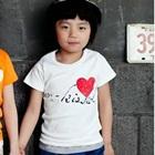 เสื้อยืดแขนสั้น-Kiss-สีขาว-(5size/pack)