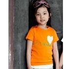 เสื้อยืดแขนสั้น-Kiss-สีส้ม-(5size/pack)