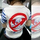 เสื้อยืดแขนสั้นลายขวาง-สีน้ำเงิน-(5size/pack)