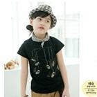 เสื้อยืดแขนสั้นค้างคาว-สีดำ-(5size/pack)