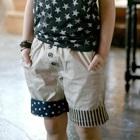 กางเกงขาสามส่วนสกรีนลายดาว-สี-Apricot-(4-ตัว/pack)